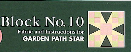 Quilter's Sampler Club Monthly Block #10 STAR Quilt Kit Includes Fabric & Detailed Instructions