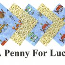 20   4 inch CAFE MOCHA Fabric Quilt Squares Kit za1 C