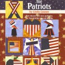 Patchwork For Patriots Linda Causee 24 full quilt blocks AT2