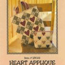 Indygo Junction Kimies Quilts Heart Applique Tote Pattern ZDS1