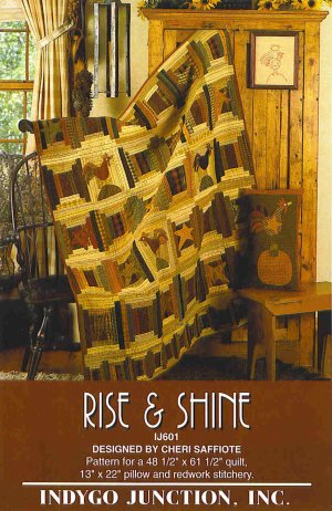 RISE SHINE Cheri Saffiote Indygo Junction Quilt Pattern ZDS1