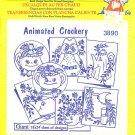 Aunt Martha's Iron on Transfer Animated Crockery 3890 ZDS1