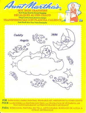 Aunt Martha's Iron on Transfer Cuddly Angels 3886 ZDS1