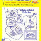 Aunt Martha's Iron on Transfer Floppy Eared Bunnies ZDS1