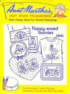 Aunt Martha's Iron on Transfer Floppy Eared Bunnies ZDS1
