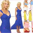 A-line Short Evening Dress Cocktail Dress Hi-low Red Blue Pink Green Bridesmaid Prom Dress