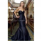 Strapless Sweetheart Bridal Ball Gown Black Navy Mermaid Wedding Dress