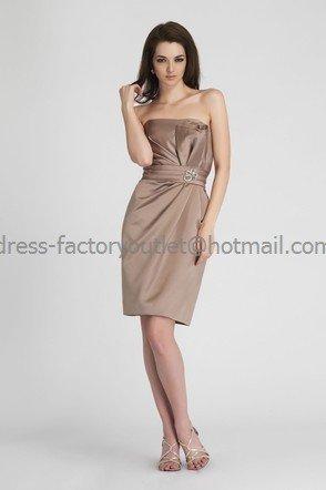 Halter Short Bridesmaid Dress Coffee Satin Homecoming Dress Pleated Cocktail Dress