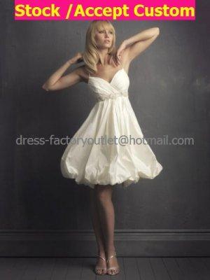 A-line Short White Taffeta Evening Dress Bridesmaid Dress 2 Thin Straps Knee Length Wedding Dress