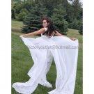 White Lace Purfle Empire Waist Bridal Evening Dress Sleeveless Long Chiffon Maternity Wedding Dress