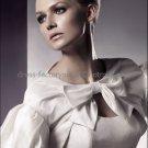 Ivory White Taffeta Short Sleeves Short Bridal Dress Jacket Beaded Wedding Dress Bolero Jacket J4