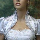 Ivory White Red Blue Green Satin Short Sleeves Bridal Vest Shawl Wedding Bolero Jacket J30