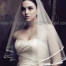 1 Tier Satin Edge Ruffles Tulle Short Wedding Veil 1X1.5 M Bridal Dress Veil