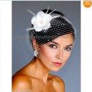 1 Rose White Ivory Tulle Net Short Wedding Veil  Bridal Dress Birdcage Veil BV05