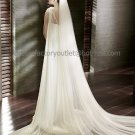 2 TierS Wide Tulle Wedding Veil 2.8X1.5 M Bridal Dress Veil Cathedral Bridal Veil  VL21
