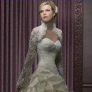 Ivory White Lace Bridal Dress Vest Shawl Jacket Long Sleeves Wedding Dress Bolero Jacket Size 2-28