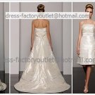 2-In-1 Demountable Champagne Wedding Dress Strapless Long Layered Bridal Gown Short Bridal Dress