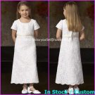 Lace Junior Bridesmaid Dress Prom Party Dress Flower Girl Dress Baby Dresses Sz2 3 4 5 6 7 8 9 10+