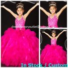 Fuchsia Junior Bridesmaid Dress Prom Party Dress Flower Girl Dress Baby Dress Sz2 3 4 5 6 7 8 9 10+