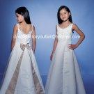 Gold Embroidery Junior Bridesmaid Dress Prom Party Dress Flower Girl Dress Sz2 3 4 5 6 7 8 9 10+