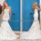 Ivory Bridal Wedding Gown Strapless Layered Memaid Bridal Wedding Dress Sz4 6 8 10 12 14+Custom