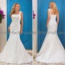 White Bridal Wedding Gown One Shoulder Lace Organza Memaid Wedding Dress Sz4 6 8 10 12 14+