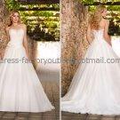 A-line Strapless Bridal Wedding Gown White Ivory Organza Wedding Dress Sz4 6 8 10 12 14+Custom