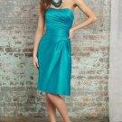 Strapless Short Bridesmaid Dress Sheath Teal Blue Cocktail Dress Sz4 6 8 10 12 14+Custom