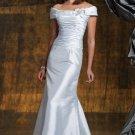 Off SHoulder Evening Dress Light Blue Taffeta Prom Dress Mother of the Bride Groom Dress