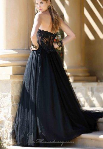 Strapless Bridal Wedding Gown Black White A-ine Wedding Dress Bridal Gown Prom Dress Sz 2 4 6 8 10+