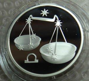 RUSSIA 2 RUBLE 2002 SILVER PROOF LIBRA IN CAPSULE RARE COIN