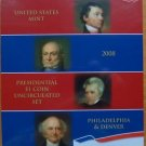 AMERICAN PRESIDENTIAL $1 P & D 2008 SET STILL WRAP IN PLASTIC MINT UNC CONDITION