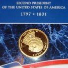 USA MINT PRESIDENTIAL $1 INDIVIDUAL PP COIN JOHN ADAMS WRAP IN PLASTIC