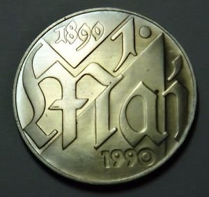 EAST GERMANY DDR 10 MARKS COIN 1990 FIRST OF MAY UNC RARE