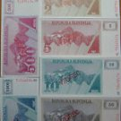 SLOVENIA 8 SPECIMEN NOTES RARE BANKNOTES SET UNC CONDITION