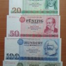 EAST GERMANY GDR 7 BANKNOTES SET 1971-1985 UNC RARE NO RESERVE