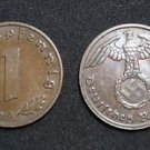 GERMANY 1 PFENNIG COIN 1939 A FROM NAZI THIRD REICH TIME RRARE
