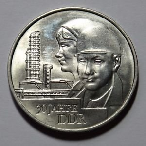 EAST GERMANY DDR 20 MARKS COIN 1979 30 YEARS DDR UNC RARE