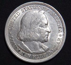 USA SILVER HALF DOLLAR 1893 COLUMBIAN EXPOSITION XF CONDITION SILVER COIN