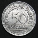 GERMANY 50 PFENNIG ALU COIN 1921 F WEIMAR TIME RARE COIN aUNC