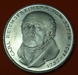 GERMANY 5 MARK UNC CuNi COIN 1981 CARL STEIN