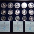 YUGOSLAVIA 15 SILVER PROOF COINS SET SARAJEVO 1984 OLYMPIC GAMES MINT BOX COA
