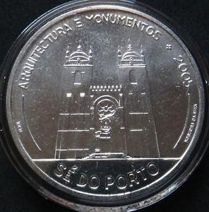 PORTUGAL 10 EURO SILVER COIN 2005 SE DO PORTO MINT UNC IN CAPSULE