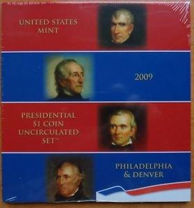 AMERICAN PRESIDENTIAL $1 P & D 2009 SET STILL WRAP IN PLASTIC MINT UNC CONDITION