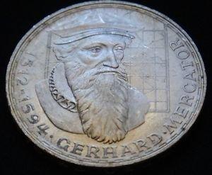 GERMANY 5 MARK UNC SILVER COIN 1969 F GERHARD MERCATOR UNC