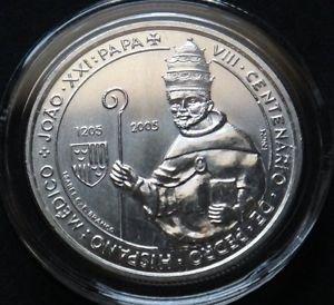 PORTUGAL 5 EURO SILVER COIN 2005 DE PEDRO MINT UNC IN CAPSULE