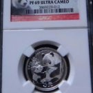 2007 CHINA SILVER 3 YUAN 25TH ANNIVERSARY 2005 PANDA NGC PF 69 ULTRA CAMEO