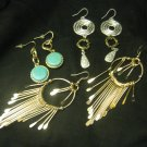 New Designer Dangling Earrings Lot set of 3 Free Ship Lower 48