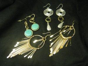 New Designer Dangling Earrings Lot set of 3 Free Ship Lower 48