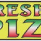 10ft FRESH HOT PIZZA BANNER 3x10ft  FREE SHIPPING
